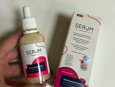 Сыворотка serum в руках
